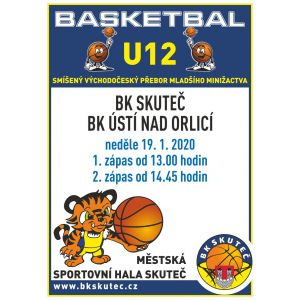 U12 - v neděli 19.1. hostíme doma borce z Ústí nad Orlicí