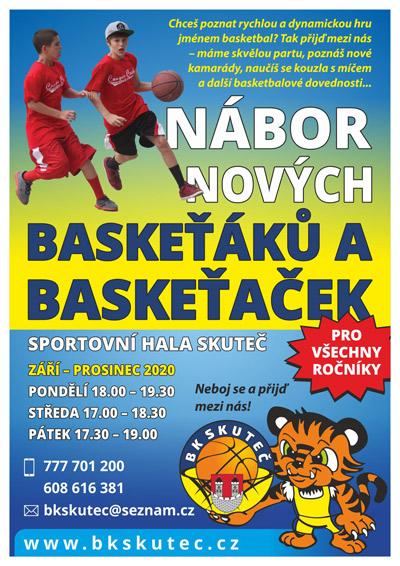 Nábor basketbalistů Skuteč